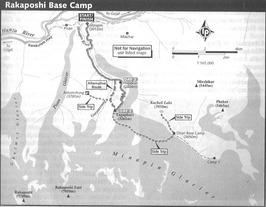 Rakaposhi Base Camp Map